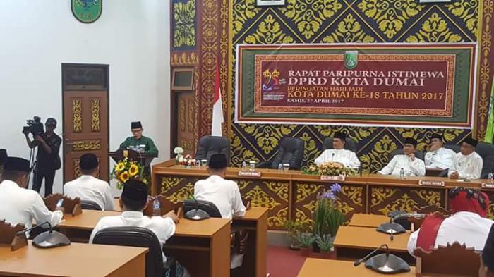 Sidang Paripurna DPRD Hari Jadi Kota Dumai Ke 18