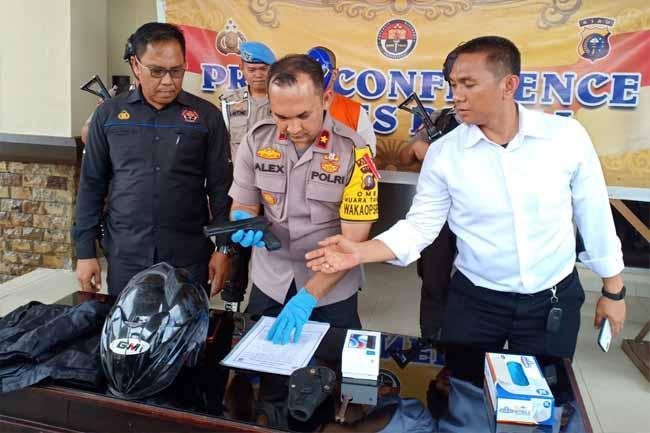 Polisi Dumai Lumpuhkan Perampok Indomaret dan Alfamart