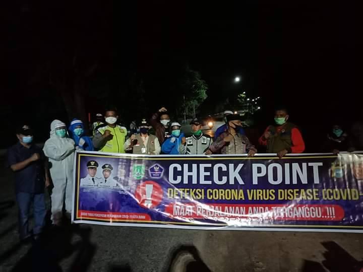 Walikota Dumai Tinjau Tiga Posko Check Point Daerah Perbatasan