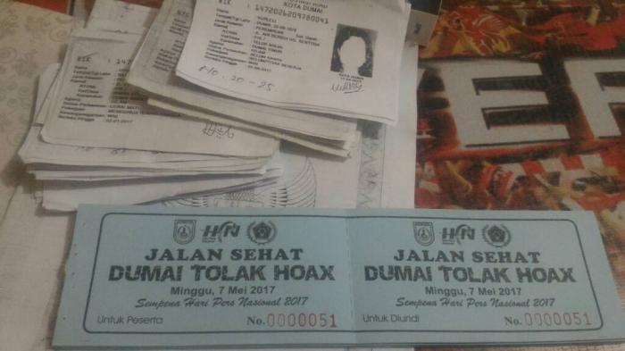 PWI Dumai Sebarkan 10.000 Kupon Jalan Sehat HPN Riau 2017