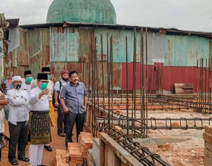 Walikota Zulkifli AS Tinjau Pembangunan Masjid Al Falah Dumai