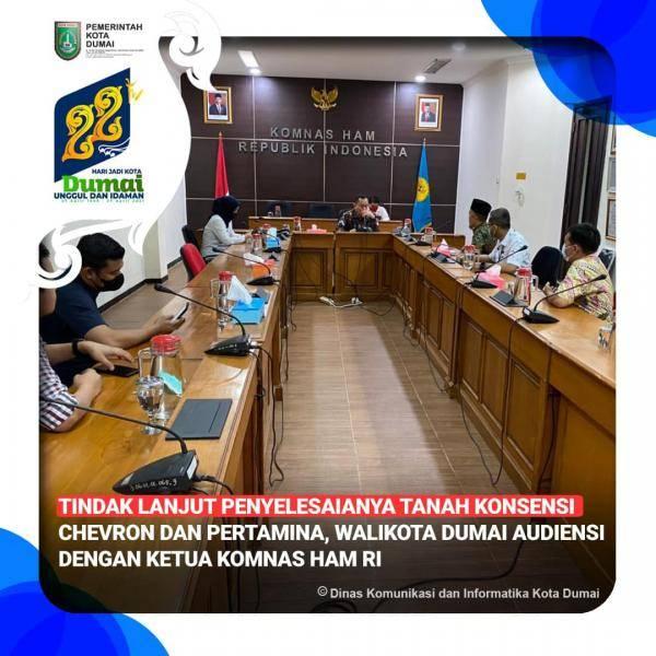 Wali Kota Dumai Audiensi Dengan Komnas HAM Terkait Tanah Konsesi