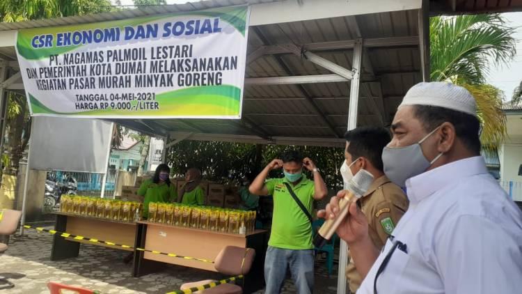PT Nagamas Palmoil Gelar Pasar Murah di Buluh Kasap Dumai