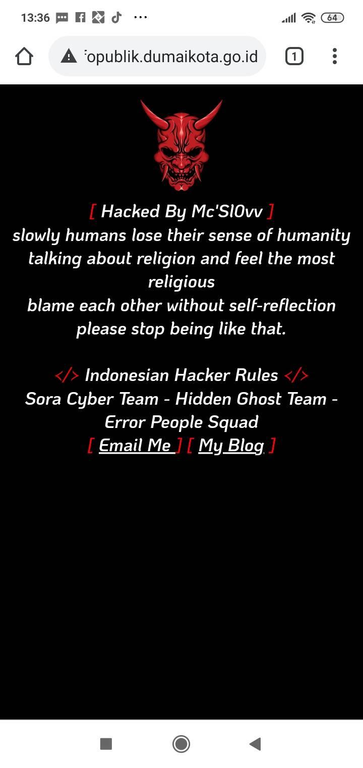 Website Informasi Milik Pemko Dumai di Retas Hacker