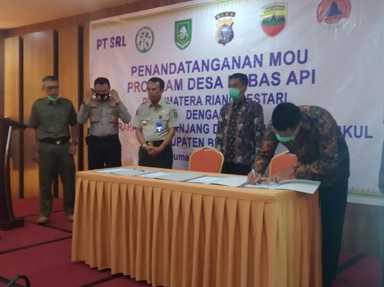 Program Desa Bebas Api, Dua Kelurahan di Bengkalis MOU Dengan PT SRL