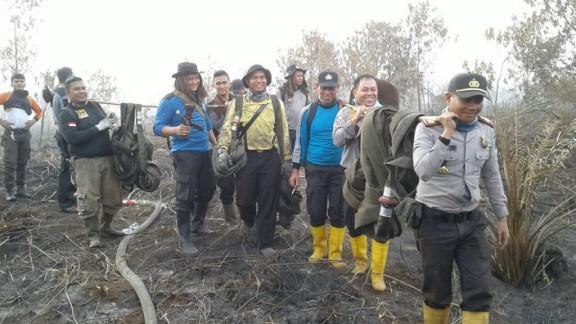 Polisi Buru Pembakar Lahan dan Hutan Dumai