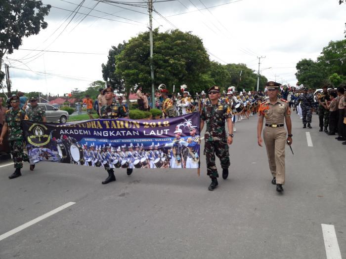 122 Taruna TNI AL Tampil Memukau di Dumai