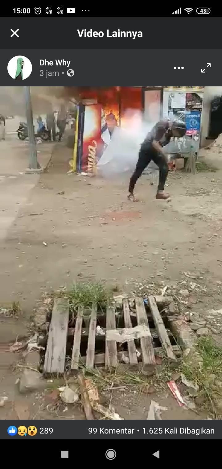 Pria yang Diduga Pembakar Istri di Dumai Juga Ikut Dijilat Api